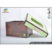 Brown Foldable Cardboard Gift Boxes With Lids Matt Varnish Surface Finishing Manufactures