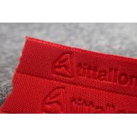 Red Embossed Sportswear Woven Band Manufactures