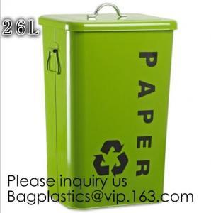 Household Metal Tin Garbage /Dust Bin,Metal Dog Pet Food Storage Bin Tin/Galvanized Trash Can/Garbage Bin,Store Supplies Manufactures