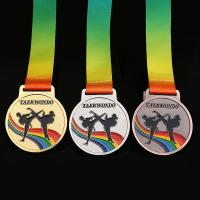 China supplier professional customised award zinc alloy sport medals custom die cast spin medals taekwondo/karate/judo Manufactures