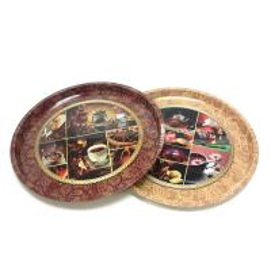 premium round serving tin trays Manufactures