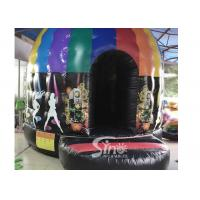 Kids N adults inflatable music disco dome bouncy castle with light hooks on top for outdoor N indoor parties Manufactures