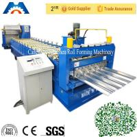 Aluminium Roofing Sheet IBR Roof Panel Roll Forming Machine With PLC Control Manufactures
