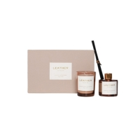 Pink Glass Reed Diffuser Scented Candle Home Scent Gift Set Manufactures