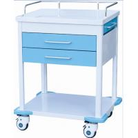 Hospital Emergency Medical ABS Trolley With Drawers Wheels Shelves Manufactures