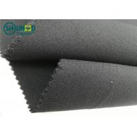 Medium Weight 76 Gsm Twill Woven Interlining Fabric With PA Double Dot Manufactures