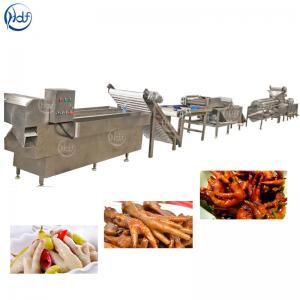 SUS304 Chicken Feet Processing Line , 500 - 2000kg / H Chicken Feet Peeling Machine Manufactures