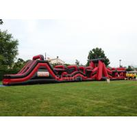 Super Explorer Inflatable Obstacle Course Red Color Double Stitching Manufactures