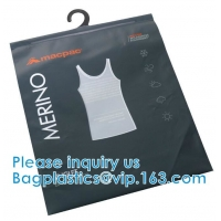 Shirt Packaging Bags, Hanger Frosted Bags, Packaging Bag Hook Hanger Bag Underwear Shirt Bag Manufactures
