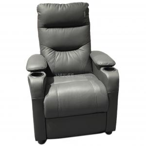 Modern Leather Home Theater Sofa Seating Multi color with Recline Function Manufactures