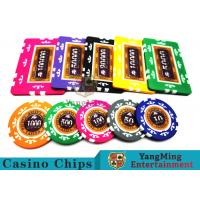 760 Pcs Texas Holdem Style Clay Poker Chips With Real Aluminum Case Manufactures