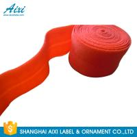 Decorative Coloured Fold Over 10 - 30mm Elastic Binding Tape For Underwear Manufactures