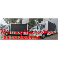 China HOT SALE!  high quality and competitive price ISUZU P6 mobile LED advertising truck, ISUZU LED screen car for sale on sale