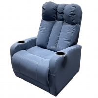 Synthetic Leather Home Theater Seating VIP Sofa With Electric Pedal Manufactures