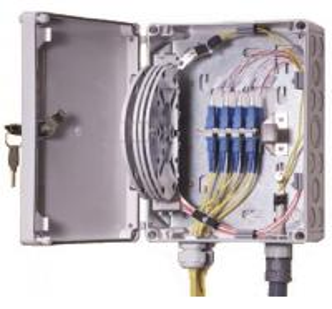 IP55 OF Indoor / Outdoor Fiber Termination Box ,8 Fibers Small Optical Termination Box Manufactures