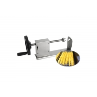 SUS 304 Stainless Steel Multifunction Vegetable Cutting Machine Spiral Potato Cutter Manufactures