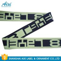 Printed Elastic Waistband 20MM - 50MM Jacquard Elastic Waistband For Underwear / Cothing Manufactures