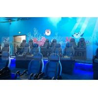 Black Motion Seat Cinema 5D Simulator System With Three Dimensional Movies Manufactures