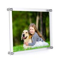 Buy cheap Bulk Modern Decoration Acrylic Wall Mounted Picture Frames High Hardness from wholesalers