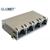 Buy cheap Industrial POE RJ45 Jack 1 x 4 Ports EMI Spring For 1G Base - T Ethernet from wholesalers