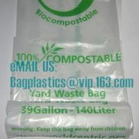 en13432 corn starch based wholesale biodegradable 100% compostable bags on roll, cornstarch made 100% biodegradable Manufactures