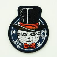 Heat Press Custom Embroidered Emblems For Garment Iron On Backing Manufactures