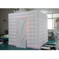 Portable Oxford LED Light White Inflatable Wedding Photo Booth With Remote Control Manufactures