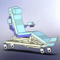 Motor Drive Dialysis Room Chair Hospital Waiting Area Chairs Safe Load 170Kgs Manufactures