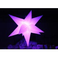 Different Size Hanging Inflatable Led Star 190 T Polyester Material For Party Manufactures