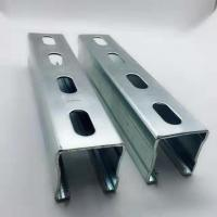 Hot Dipped Galvanized Steel Unistrut Channel Mounting Brackets / Supporting System Manufactures