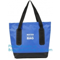 Reusable Washable Waterproof PVC Tarpaulin Tote Bag Recycled Pvc Tarpaulin Shopping Bag Coated Tarpaulin Manufactures