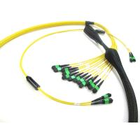 MPO To MPO Trunk Cable , Telecom Single Mode Fiber Optic Cable High Bandwidth 12 - 288 Fibers Manufactures