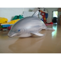 1.5m Long Airtight Dolphin Shaped Swimming Pool Toy Display In Showroom Manufactures