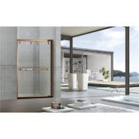 Buy cheap Inline 8MM Double Sliding Bathroom Shower Screen Red Bronze Printed Stinless from wholesalers