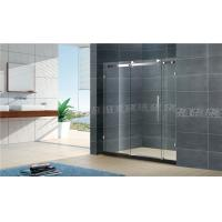 Buy cheap Frameless Sliding Door Shower Enclosure Satinless Bathroom With Big Hanging from wholesalers