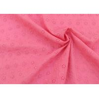 China OEM Embroidery Eyelet Cotton Dying Lace Fabric With Floral Circle Pattern For Top on sale
