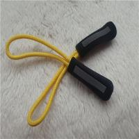 Reflective Silver Injection Rope Rubber  Zipper Puller For Garment Decoration Manufactures
