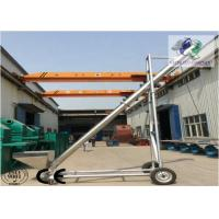 Mobile Stainless Steel Screw Conveyor ,  Inclined Screw Conveyor For Salt Chemical Manufactures