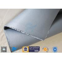 Buy cheap Flame Resistant 510g E-glass 18OZ Silicone Rubber Coated Fiberglass Fabric from wholesalers