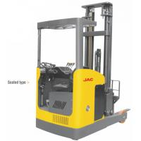 Seated Type 1 Ton Electric Reach Fork Truck Counterbalanced For Warehouses Manufactures