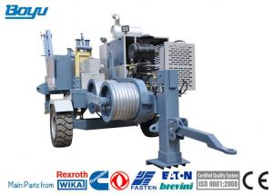 Transmission Line Stringing Equipment 60kN Hydraulic Puller Machine With Cummins Engine Manufactures