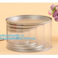 PET Jar 85mm neck size food grade clear PET plastic Can screw type with aluminium easy open endsPackaging plastic can 25 Manufactures