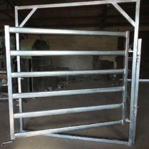 Galvanized  Round Oval 40mm 6-bar Rail Livestock Sheep Panels Manufactures