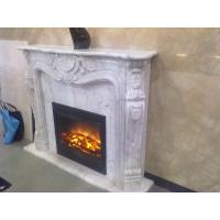 White marble fireplace mantel Manufactures