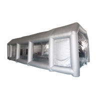 6x4x3m UV Resistant Silver Inflatable Car Spray Booth Painting Station For Car Painting Manufactures