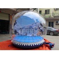 Outdoor 3m Inflatable Human Size Snow Globe For Promotion Manufactures
