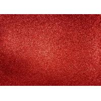 Magenta Red Glitter Fabric For Dresses , Cold Resistance Shiny Glitter Fabric Manufactures