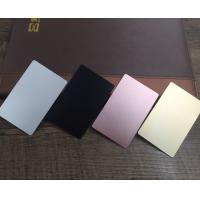Colored  Metal Business Cards Printing , Square Custom Aluminum Business Card Manufactures