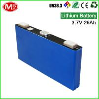 High discharge rechargeable lithium ion battery 3.7V 26Ah lithium battery for solar system Manufactures