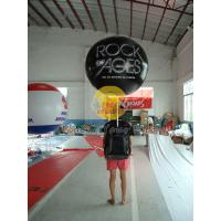 Customized PVC Attractive Durable Backpack Balloons with Full digital printing for Parade Manufactures
